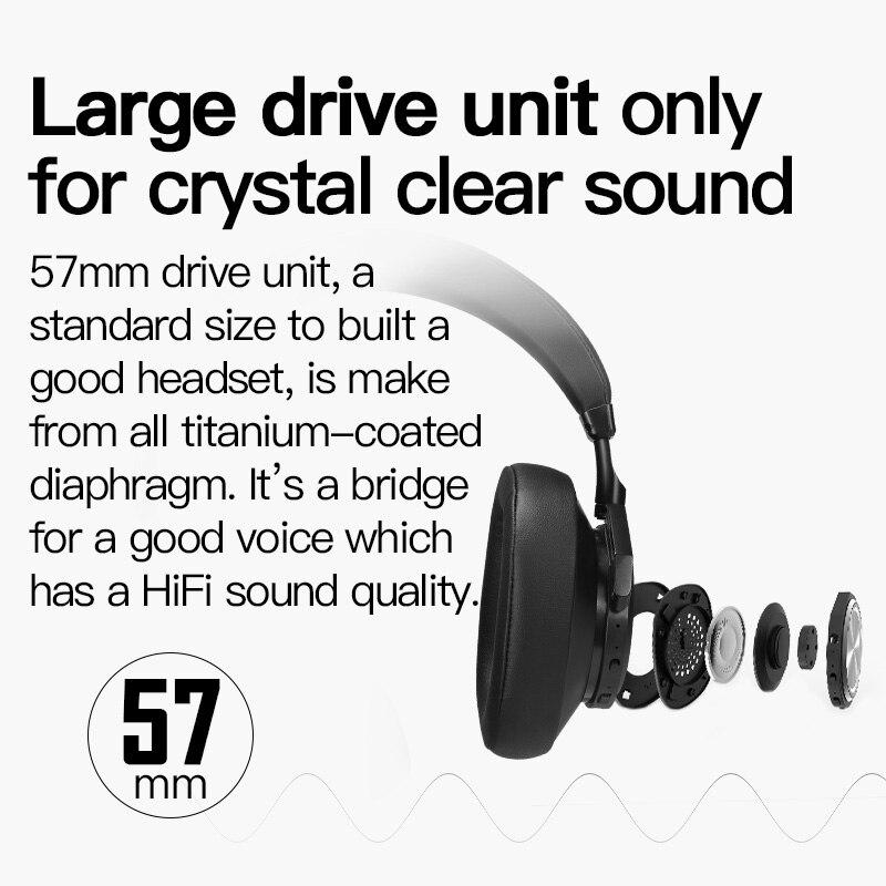 Casque Bluetooth Bluedio T7 casque sans fil à suppression de bruit actif défini par l'utilisateur pour téléphones et musique avec reconnaissance faciale - 3
