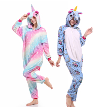 Kigurumi Adult Animal Pajamas Flannel Winter Women Men Unicorn Stitch Panda Pikachu Onesie