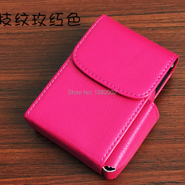 Best Selling PU leather  Cigarette box  for man and women pocket Portable Cigarette Case
