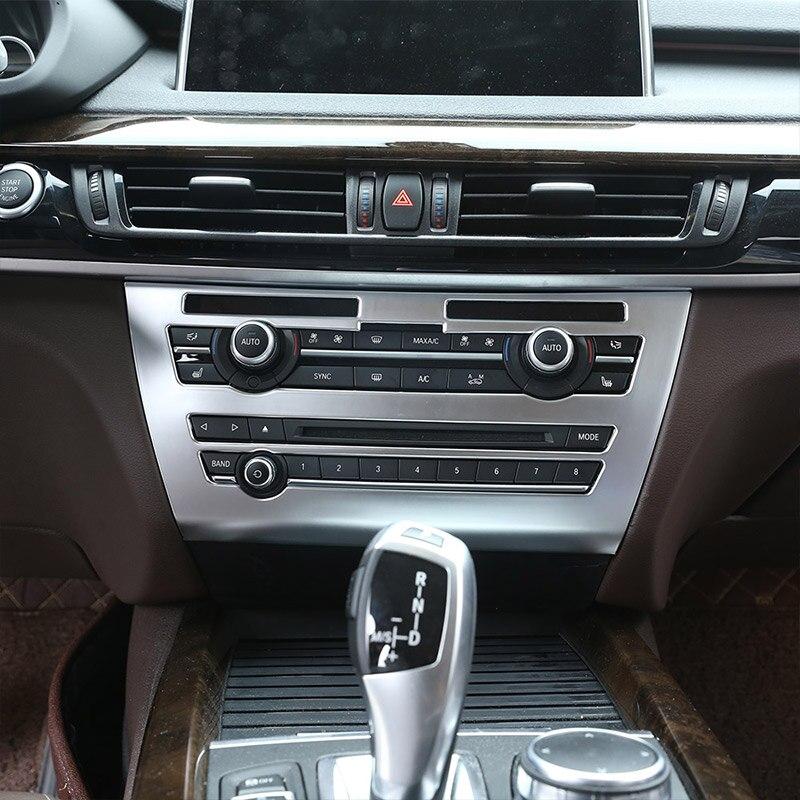 Pour BMW X5 F15 2014-2018 ABS Console centrale de voiture Volume climatisation ventilation cadre panneau garniture accessoires
