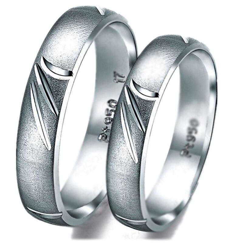 Обручение кольцо для пары GVBORI PT950 кольцо обручальное кольцо для женщин и мужчин Романтический большой с сертификатом уверен кольцо