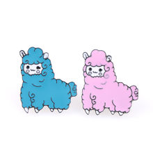 Cartoon Animal Sheep Enamel Pins Lapel Pin Brooch Jewelry Icons Collar Brooches for Women Clothing Bag Accessories(China)