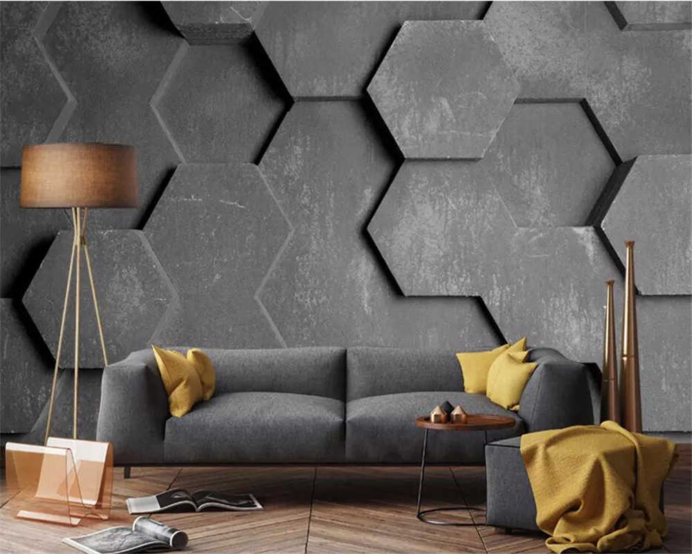 beibehang Custom wallpaper 3D photo murals Ya cool modern fashion Polygonal stereo wallpaper modeling sofa background wall paper