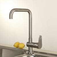 SUS 304 Stainless Steel Lead Free Tall Swivel Spout Kitchen Vessel Sink Faucet Mixer Tap 2101041