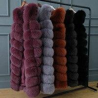 JKP new Natural Real Fox fur vest Natural fur coat for female jacket long vest fur coats coat fox jacket vest