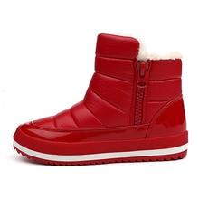 LAKESHI Nouvelle Femmes Bottes D'hiver Chaudes De Mode Hiver Neige Bottes Femmes Cheville Botas Coton D'hiver Imperméables Chaussures