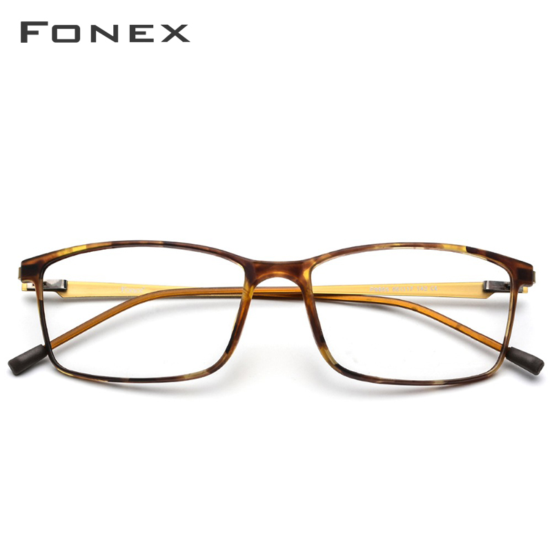 Montura de gafas de aleación de titanio TR90 montura de gafas de ojo de miopía para hombre 2019 marcos ópticos coreanos sin tornillos gafas 9855 - 2