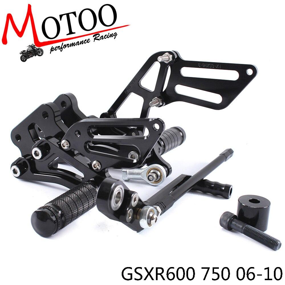 Алюминиевые Подножки для мотоцикла SUZUKI GSXR600 GSXR750 GSXR 600 2006-2010