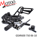 Motoo -Full CNC aluminum Motorcycle Rearsets Rear Set For SUZUKI GSXR600 GSXR750 2006-2010
