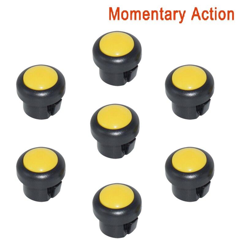 7 x кнопка включения мотоцикла сигнал поворота Высокий Низкий Луч Электрический старт Kill ON OFF кнопки мгновенного действия с фиксацией - Цвет: Yellow B