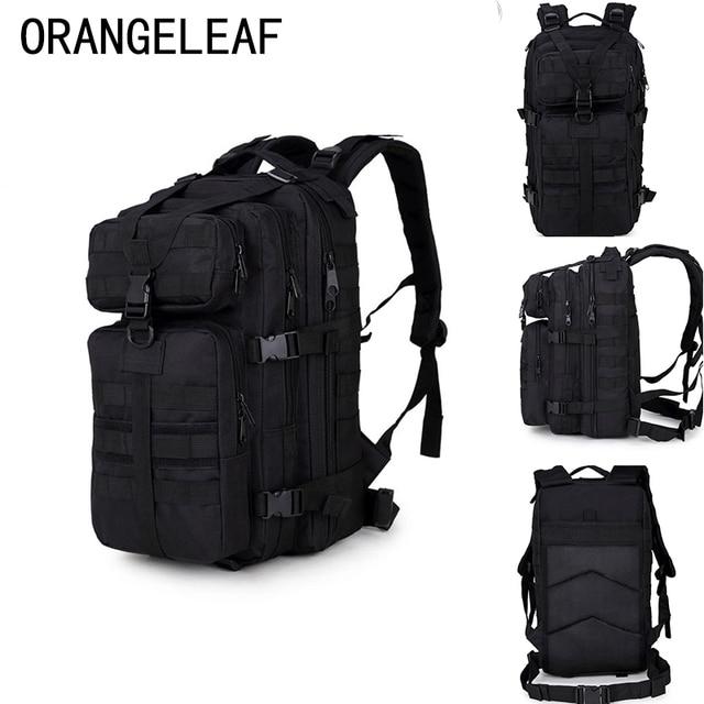 1f9e6d21b943 35L нейлоновый военный армейский черный рюкзак мужской водостойкий 10L мини- рюкзак Bagpack большой емкости багаж