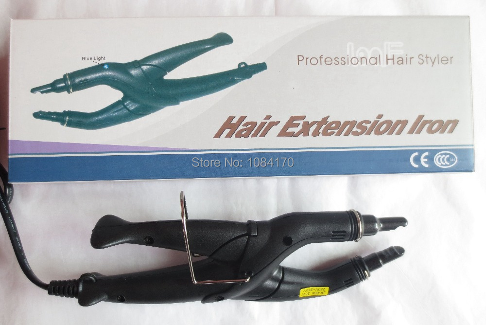 Black UK plug JR 668 Loof Hair Connector with Controllable Temperature Heat Hair Connector