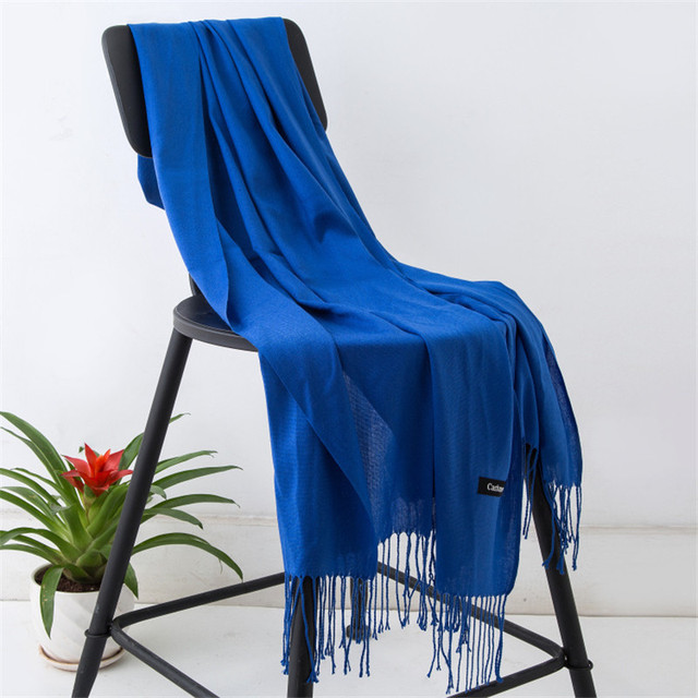 2019 fashion summer women scarf thin shawls and wraps lady solid female hijab stoles long cashmere pashmina foulard head scarves 5