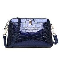 Mody patentowej skóry kobieta torby torebki ze skóry krokodyla Kobiet torebki damskie torby Na Ramię Messenger torby luksusowe projektant bolsos