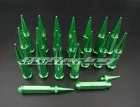 20 قطعة M12 x 1.5 مسنبل العروه المكسرات الموسعة موالف عجلة/الحافات لهوندا تويوتا الأخضر/الذهبي/ الأحمر