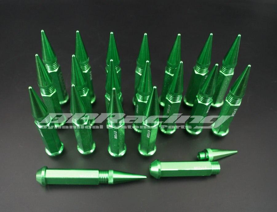 20 個 M12 × 1.5 スパイク Lug Nuts Extended チューナーホイール/リムホンダトヨタグリーン/ゴールデン/ 赤