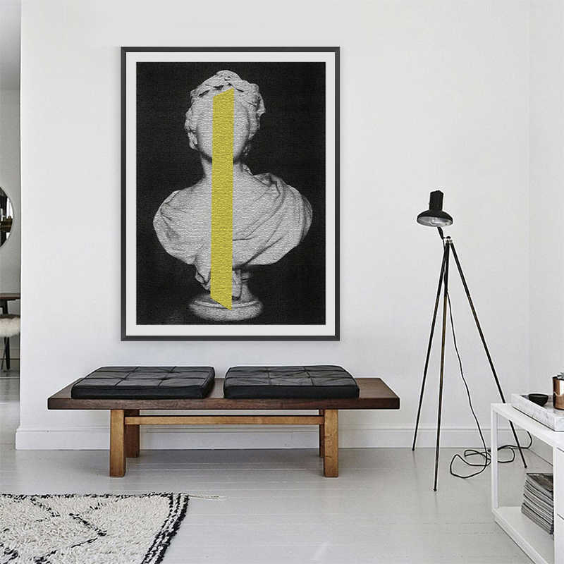 Classic Sculpture Posters and Prints Wall Art Abstract Canvas Painting Wall Pictures For Living Room Home Decoration