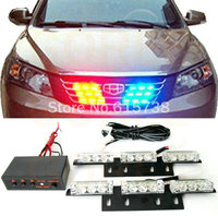 1 Set White Color 2 X 9 LED Automotive Vehicle Warning Light Emergency 3 Flashing Modes