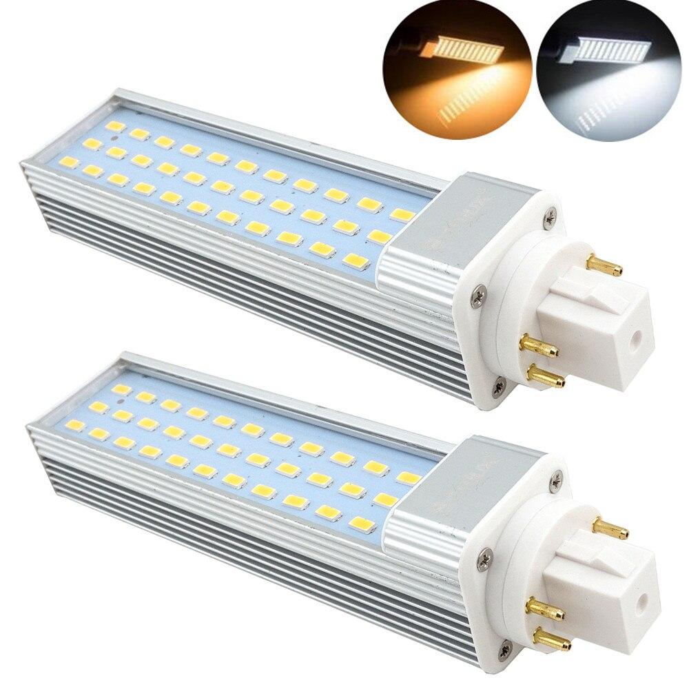 GX24Q 4-контактный вращающийся светодиодный PLC лампы 13 Вт, 26 Вт CFL замена, светодиодный GX24 Harizontal встраиваемый светильник G24Q лампа удалить баллас...