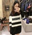 BIGBANG Sweatshirt Women Black And White Harajuku Hoodies Kpop Sudadera Superstar Ropa Deportiva Mujer BIGBANG Sweatshirt