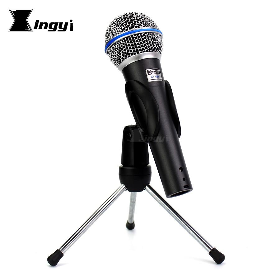 BT-58A Profesionální ruční dynamický hlasový mikrofonní stojan Stativ Držák na mikrofon Mike pro BETA58A BETA 58A Karaoke KTV