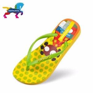 Image 2 - Suojialun dla dzieci klapki japonki Cartoon wzór kolorowe plaży sandały Slip On pantofle