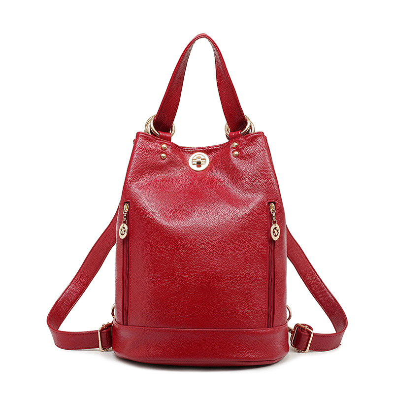 2017 New Arrival Preppy Style Pu Leather Women Bag Fashion Back packs For Girls Casual Travel Women School Bags Bucket Bag 2016 new fashion black pu leather women backpacks preppy style school bags for teenagers casual travel vintage mochila masculina