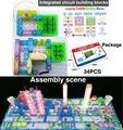 115 proyectos snap circuits inteligente kit electrónico circuito integrado bloques de construcción experimentos educativos ciencia de la diversión juguetes de los niños