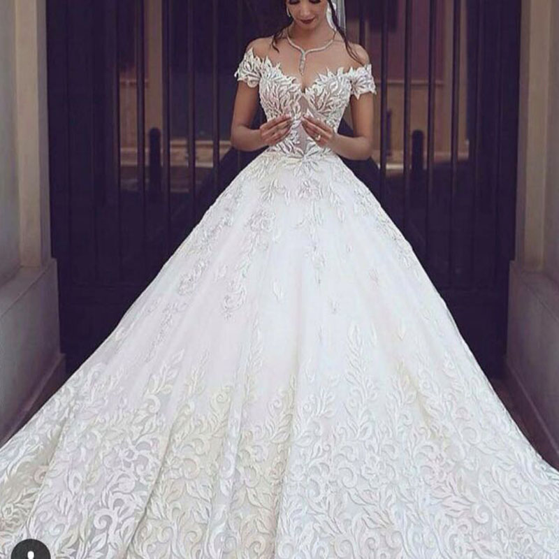 arabic fashion designer said wedding dresses ball gown lace off the
