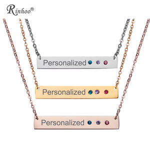 62a2be907604a4 rinhoo Custom Pendant Women Jewelry Letters Stainless Steel
