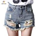 Short Big Size 4XL/5XL Denim Shorts Women 2017 Summer Korean Hole Pockets jeans Shorts high waist Vintage Washed Women Shorts