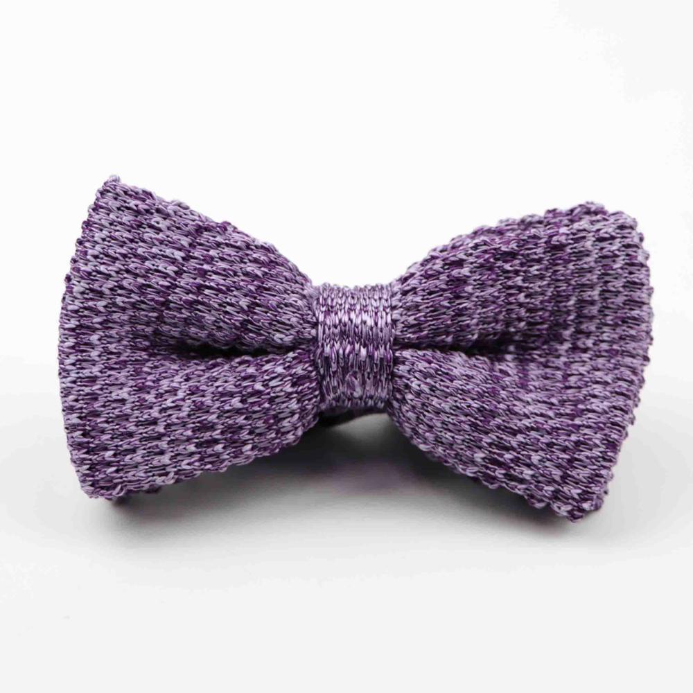 Мужские галстуки для шеи, смокинг, вязаная бабочка, Одноцветный галстук-бабочка, толстый двухслойный предварительно завязанный Регулируемый вязаный Повседневный галстук - Цвет: 36