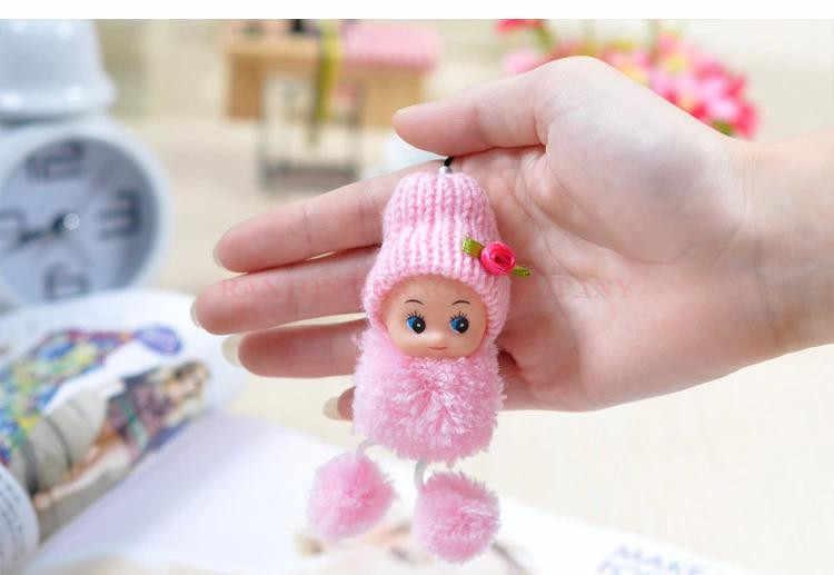 Wysyłka z losowo 1 zdezorientowana lalka wisiorek, czapka dla dzieci zabawki pluszowe piękny klaun moda lalki kreatywny wisiorek prezent