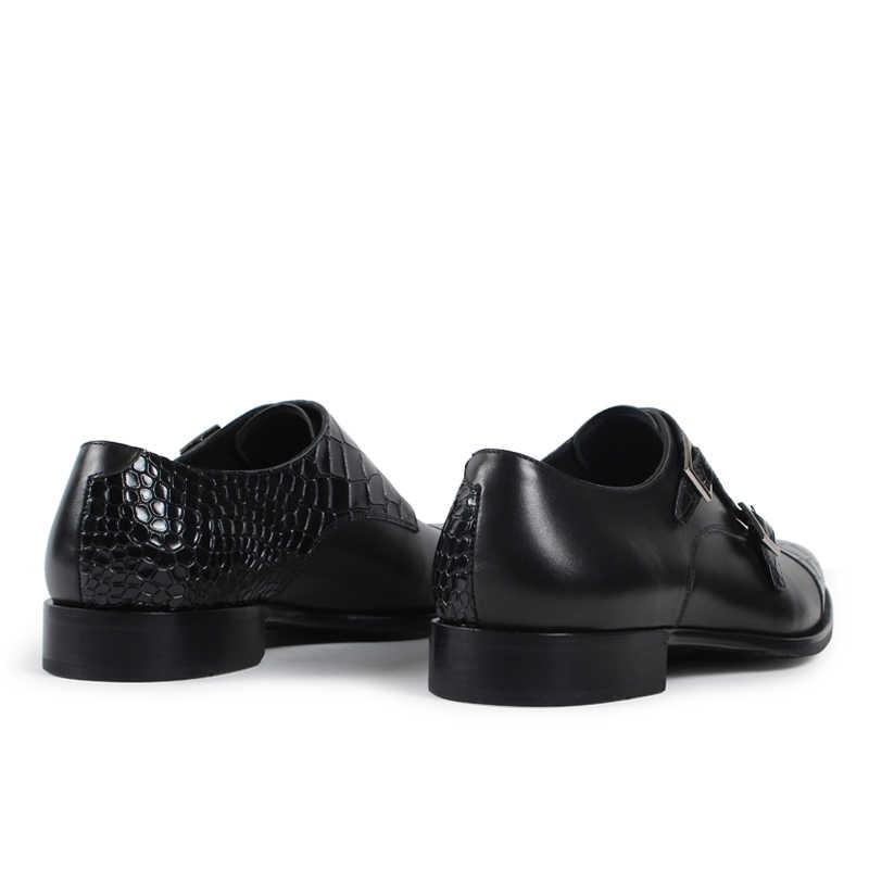 Vikeduo 2019 Handmade Hot Designer จระเข้งานแต่งงานแฟชั่นแบรนด์ Casual ชายรองเท้าหนังแท้ Mens Monk รองเท้า