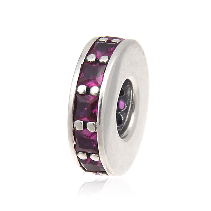 fee4d609c Ruby Petite Facets PANDORA Charm Eternity Synthetic Ruby Beads Fits Pandora  Charms Bracelet European Beads For Jewelry Making Original 925 Sterling ...