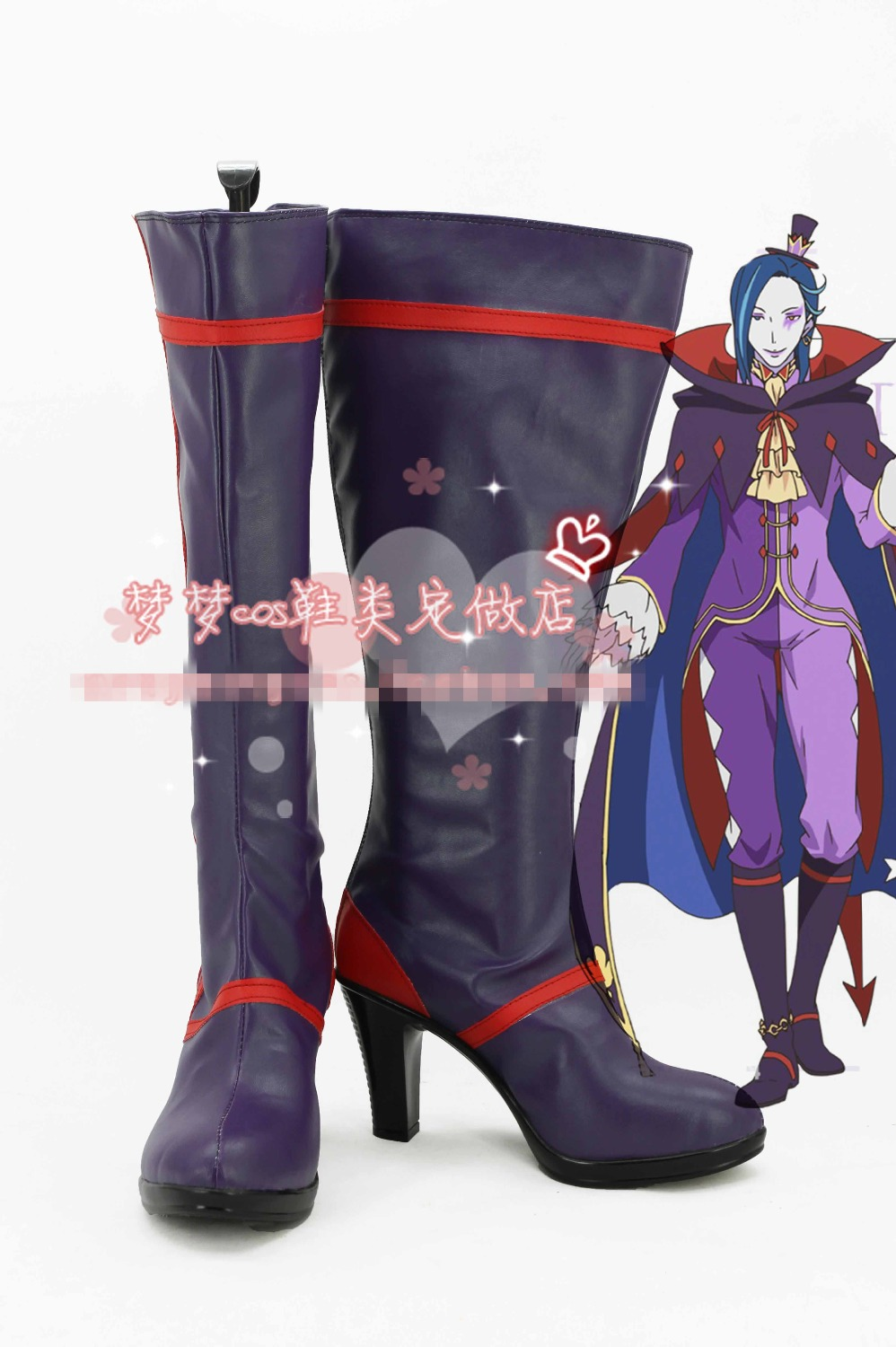 Free Shipping Re:zero Roswaal L. Mathers Cosplay Shoes ...