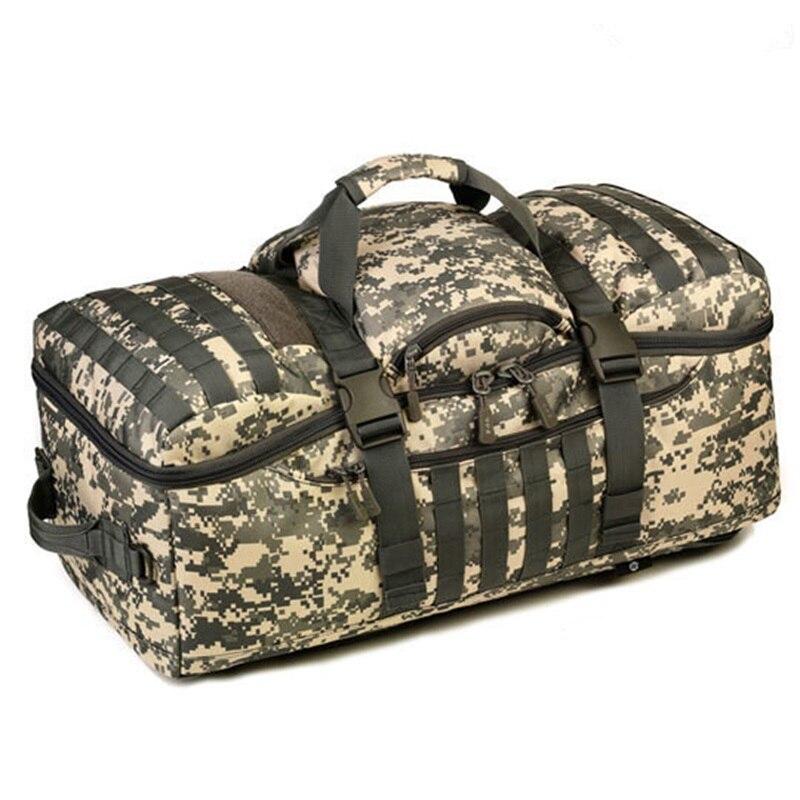 Sac extérieur 60L sac à dos militaire Camouflage sacs tactiques imperméable fourre-tout multifonctionnel randonnée voyage grand sac polochon