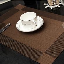 2 pcs/lot 45X30 cm Fashion place mat PVC dining table mat Table placemats for table decoration accessories