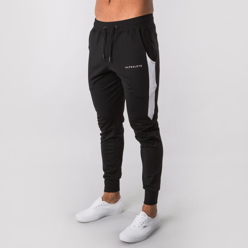 2019 New ALPHALETEGyms Mens Joggers Pants Fitness Casual Fashion Brand Joggers Sweatpants Bottom Snapback Pants Men Casual Pants