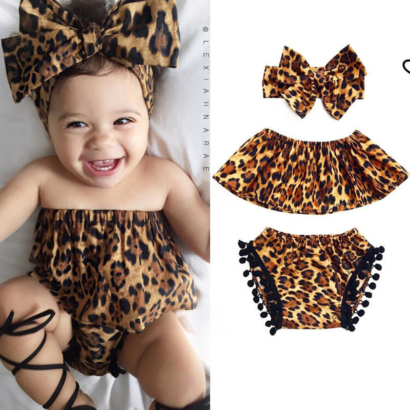 3pcs 2018 Summer Lovely Newborn Infant Baby Girls Clothes Sleeveless Tops+Short Pants+Headband 3Pcs Outfits Set