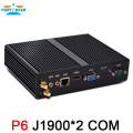 Partaker Barebone mini pc J1900 Quad core 1 LAN 1080P 12V Mini Desktop Computer 1*VGA 2 COM Free Shipping