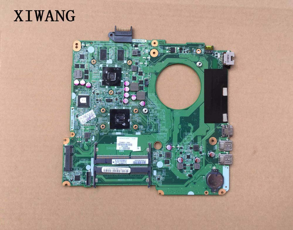 Free Shipping For 15-N 15z-N 15Z-N100 15Z-N200 Series Laptop Motherboard 734824-501 734824-001 DA0U92MB6D0 DDR3 Maiboard