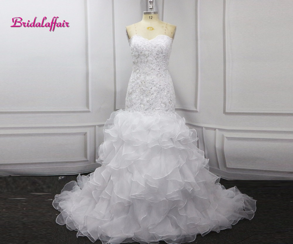 Sexy Off Shoulder Fitted Bridal Gowns Luxury Lace