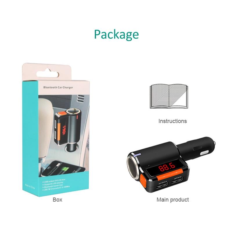 INGMAYA Bil Bluetooth-laddare 3.1A cigarettändare förlänga AUX - Reservdelar och tillbehör för mobiltelefoner - Foto 6