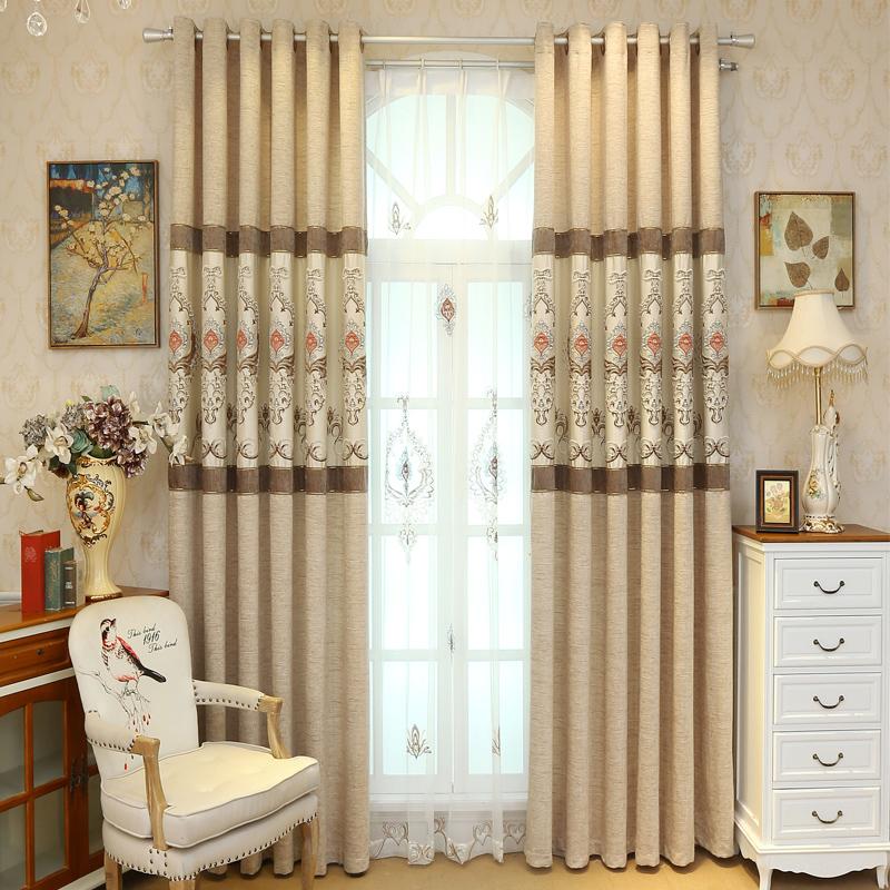 color beige bordado persianas cortinas para la sala de dormitorio balcn cortinas de hilo velo de tul cortina de cuarto