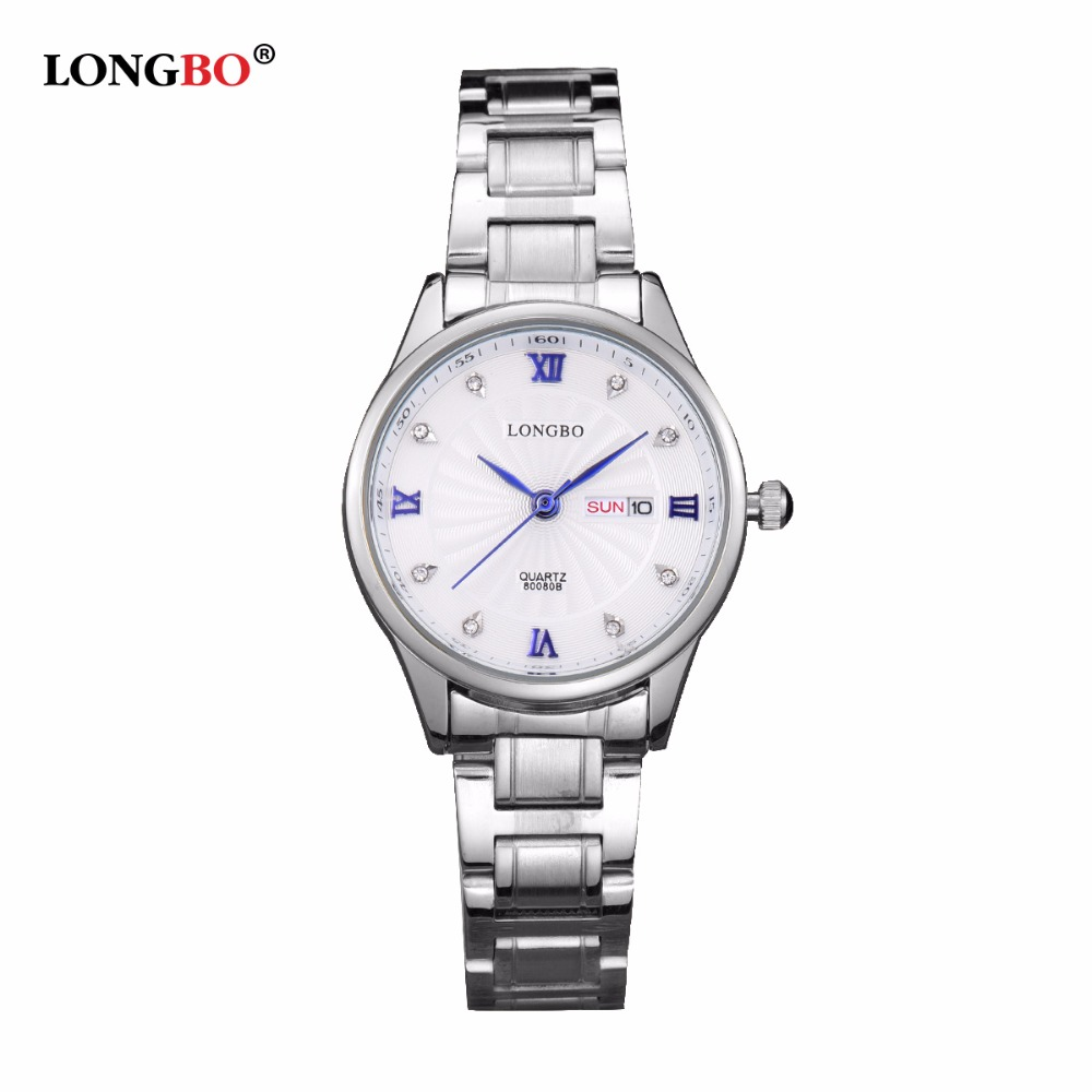Top luxury LONGBO Brand Lovers Watch Women Diamond Wa