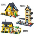 Enlighten City Villa series Action Figures Building Block Toys Kids Educational Bricks Toys Compatible With Leping