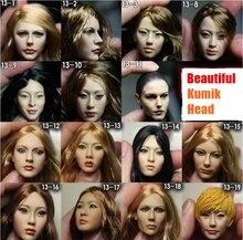 Kumik tête 1/6 chef Sculpt belle femme tête de poupée sculpture modèle 2013 série 13 – 1 13 – 12 pour 12 » Action Figure jouets