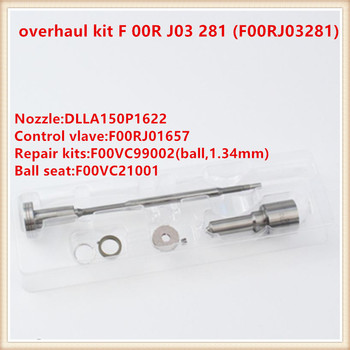 Kits de réparation d'injecteur F 00R J03 281 (F00RJ03281), F00R J03 281 pour 0445120078, 0445120393