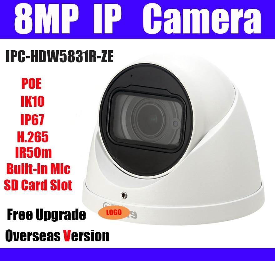 8MP Dome IP camera IPC HDW5831R ZE POE H 265 IP67 IR 50m Genuine 2 7